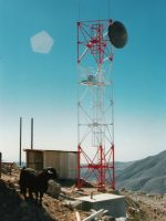 Self support microwave tower